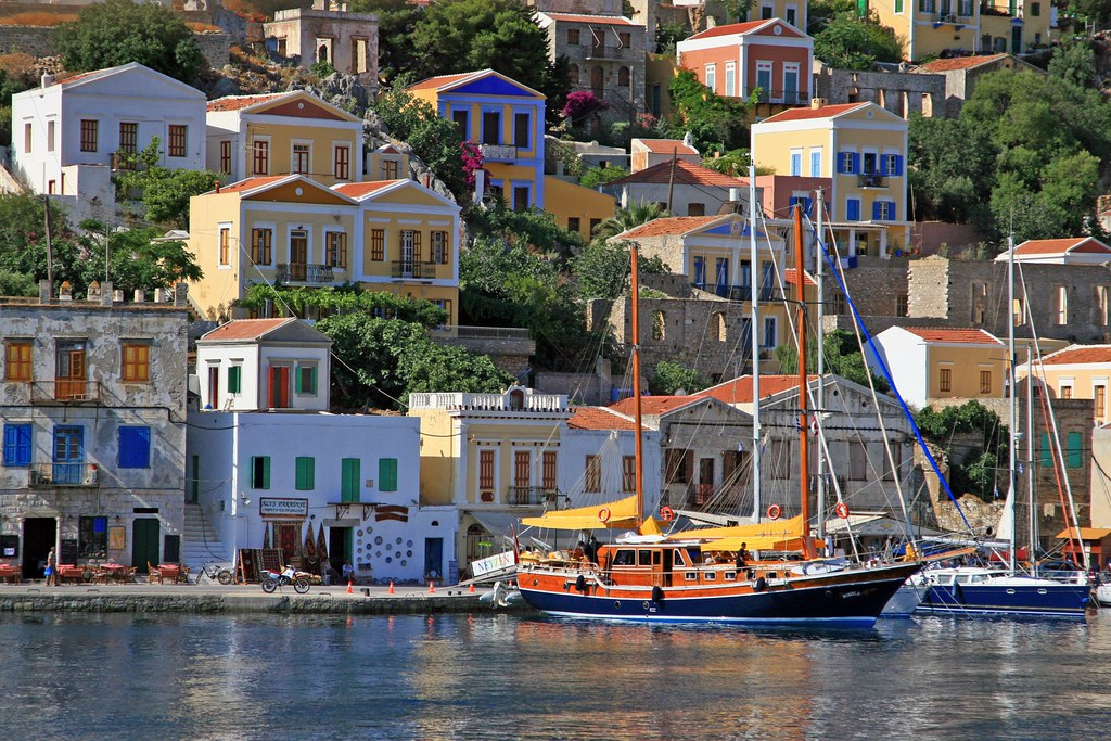 Waterfront, Ialos, Symi island