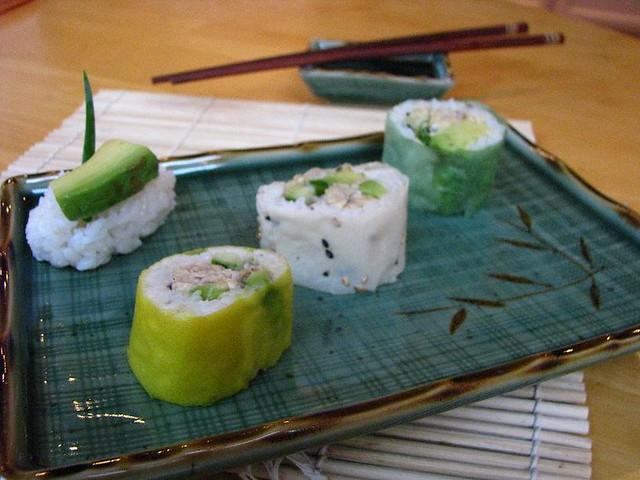 soy paper sushi Sushi jalapeno yellowtail sashimi 6 pieces smelt egg tuna white tuna white fish yellowtail squid octopus salmon smoked salmon.