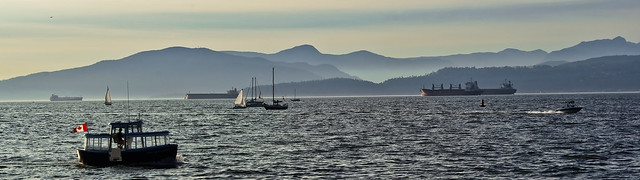 Photo:English Bay boating diversity By:footloosiety
