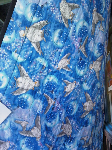 Back of owl quilt