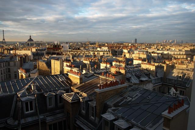 Paris lever du soleil depuis la terrasse de l 39 agence ddb for Agence immobiliere terrasse paris