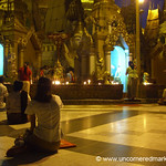 Evening Prayers at Shwedagon Pagoda - Rangoon, Burma (Yangon, Myanmar)