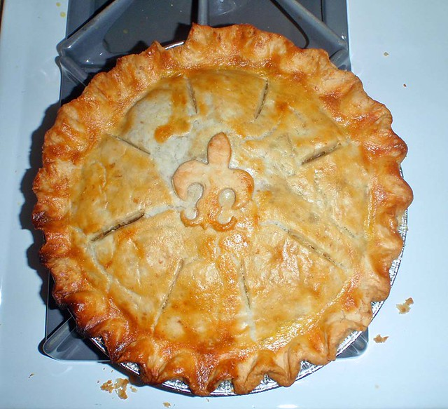 Quebec tourtiere meat pie (top view) - a photo on Flickriver