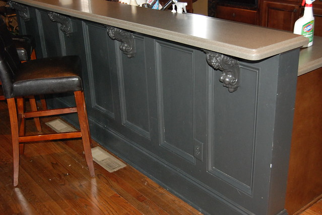 kitchen island raised paneling to jazz up the look of