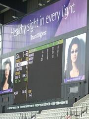 banner(0.0), presentation(0.0), advertising(0.0), signage(1.0), scoreboard(1.0), electronic signage(1.0), led display(1.0), display device(1.0), flat panel display(1.0), billboard(1.0), brand(1.0),