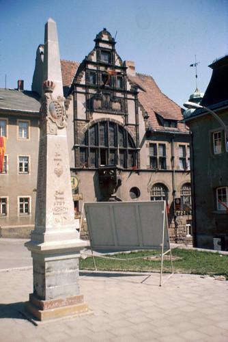 Postmeilensäule (1722) in Auma
