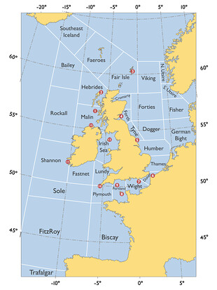Shipping forecast areas