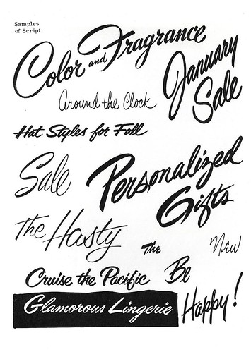 Brush Script Lettering by Depression Press