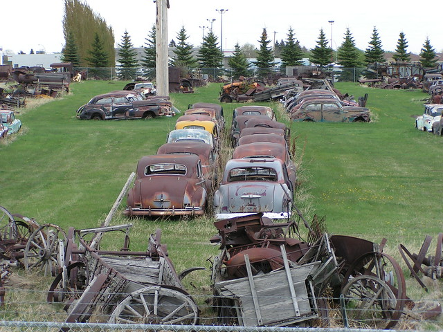 Junk Cars For Sale >> Old rusty cars and agricultural equipment | Flickr - Photo Sharing!