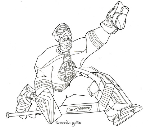 bruins coloring pages - photo#23