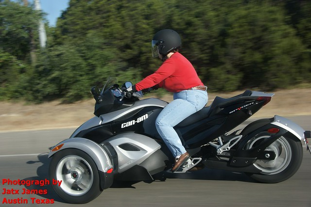 Can-Am Spyder roadster: three wheeled motorcycle