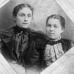 Carrie and an unidentified girl with Casey eyes; late 1800