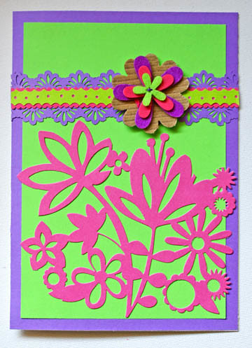 Greeting Card With Paper Lace
