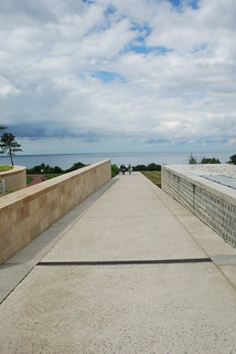 The walk above Omaha Beach at the American cemetery