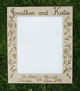 Decorative Wooden Wedding Photo Frame