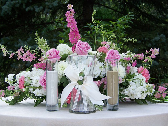 flower unity wedding ceremony sand ceremony altar arrangement flickr photo