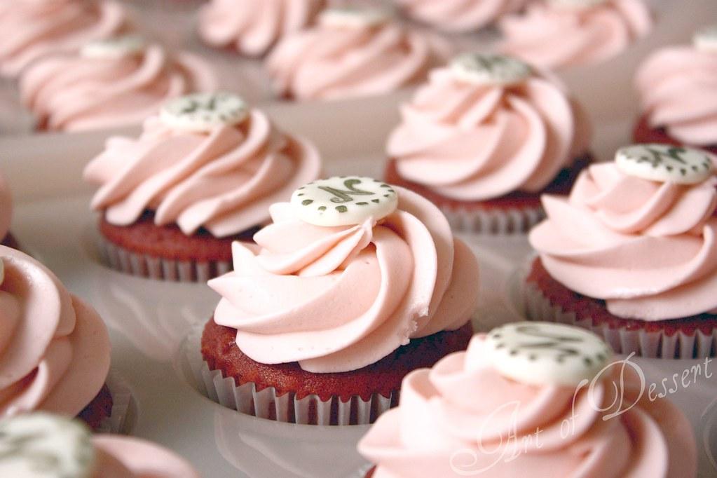Baby Shower Cupcakes Red Velvet Cake W Pink Frosting Flickr