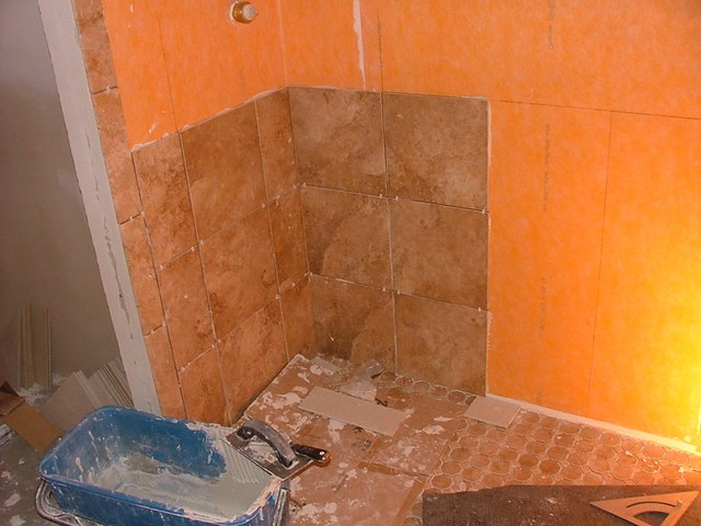 Shower Wall Tile And Waterproof Membrane Flickr Photo