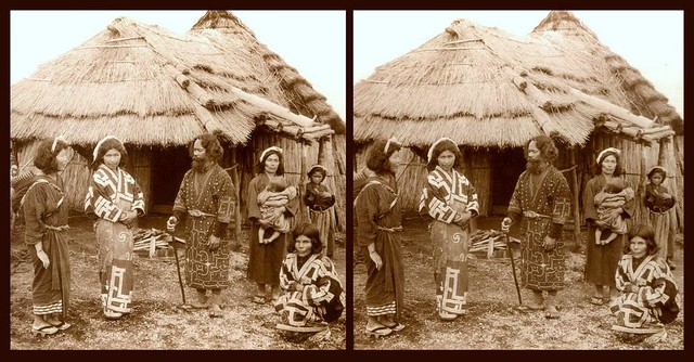 THE AINU of OLD JAPAN -- A Scene in the Northern Islan of Hokkaido