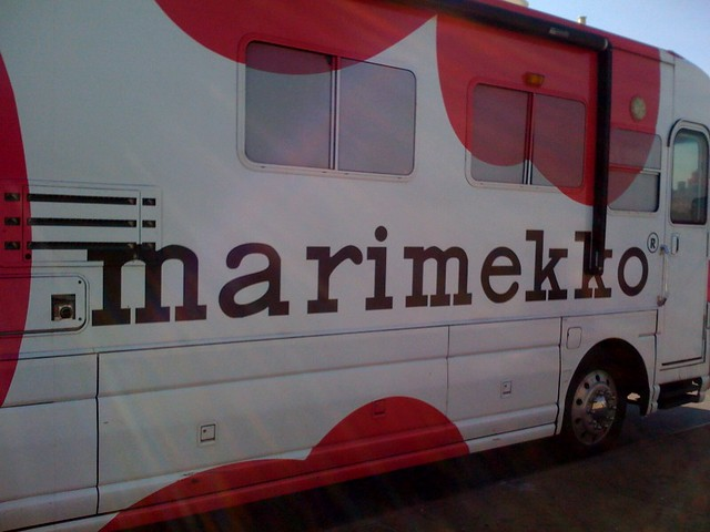 Marimekko truck outside Javits Center!!!
