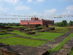 Lumbini--temple where the Buddha was born