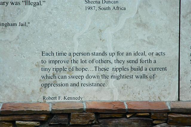 Rfk Grave Quotes: Humanity Quotes: Memorial Garden , Anne Frank , Robert Ken