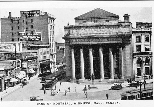 Bank of Montreal, Portage and Main, c. 1925 by wintorbos