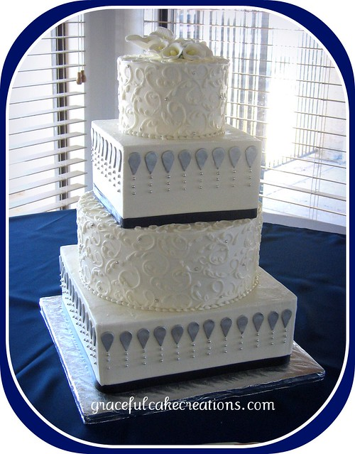 Navy Wedding Cake Lae