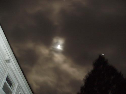 sky moon home clouds