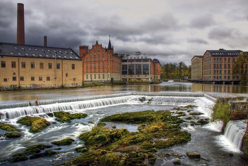 city cityscape sweden f22 sverige norrköping hdr strömmen östergötland industrilandskapet motalaström canonefs1785mmf456isusm canoneos40d johanklovsjö