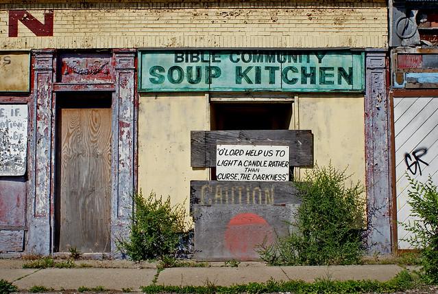 Soup kitchen rosa parks blvd 12th st detroit 6 08 for Soup kitchen detroit