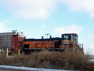 Former Milwaukee Road EMD MP-15AC working at the CP Rail Bensenville Yard. Bensenville Illinois. January 2007. by Eddie from Chicago
