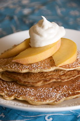 Peaches & Cream Pancakes