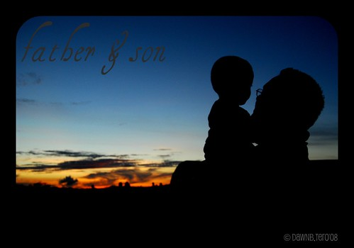 Father & Son Silhouette