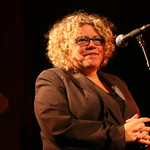 Tue, 02/12/2008 - 9:21pm - Rita Houston welcomes the crowd at the 2008 Holiday Cheer for 'FUV Concert  Photo by Jeff Fasano