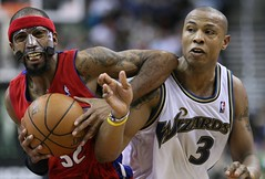 Richard Hamilton and Caron Butler