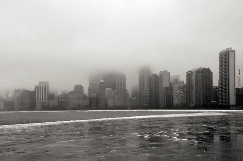 Chicago in the Fog - DSC_9697bwm