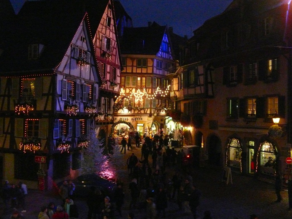 Xmas lights at Colmar