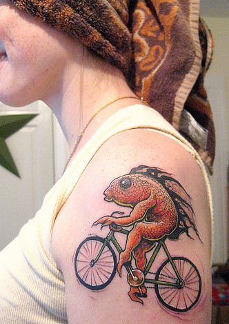 The woman with the fish tattoo