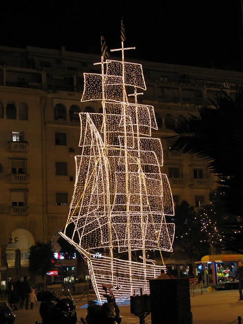 Thessaloniki's X-mas boat