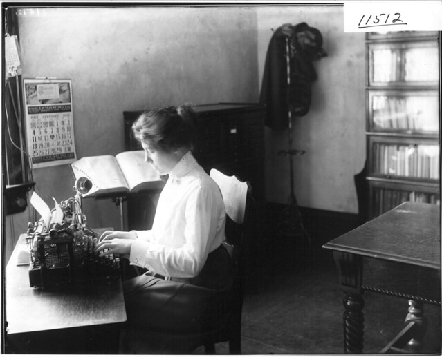 Secretary at typewriter 1912