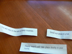 Fortunes from last night's dinner