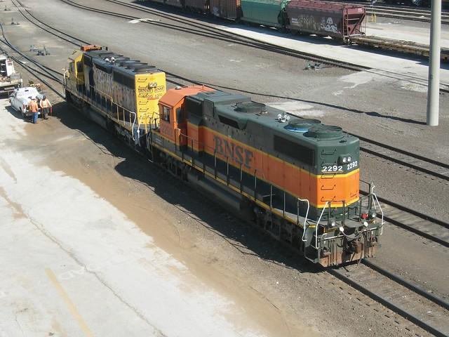 BNSF switching locos, Alliance, Texas