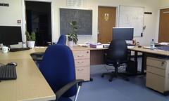 building, furniture, room, interior design, office, desk,