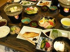 Dinner at Momiji-ya Hotel, Kyoto