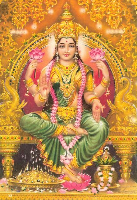 Tamaavaha jatavedo  Lakshmimananpagaminim  Yasyaam hiranyam vindeyam  Gamasvam purushanaham