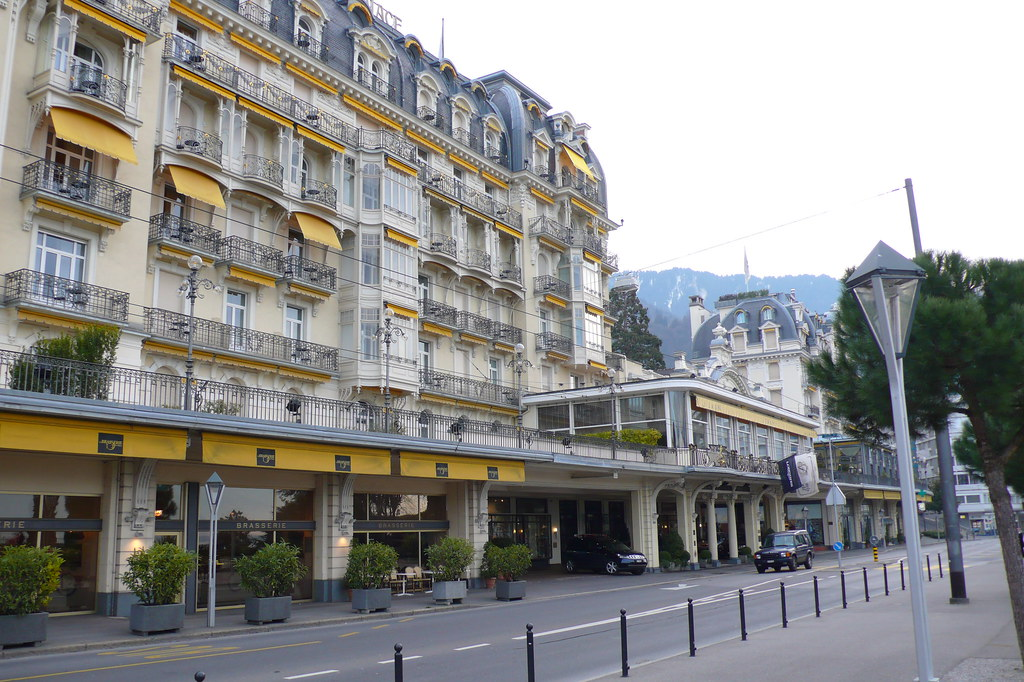 the Montreux Palace on the Grand'Rue