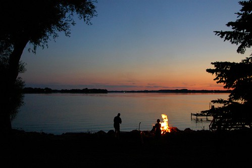 trees sunset lake nature water wisconsin fire campfire beaverdam beaverdamlake foxlake horwath dodgecounty rayhorwath