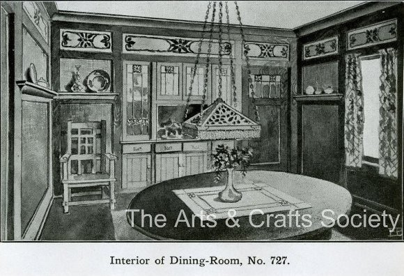 Arts And Crafts Dining Room: Dining Room - Arts And Crafts Interior - 1910