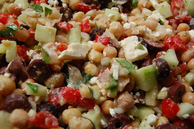 Greek Garbanzo Bean Salad | Flickr - Photo Sharing!